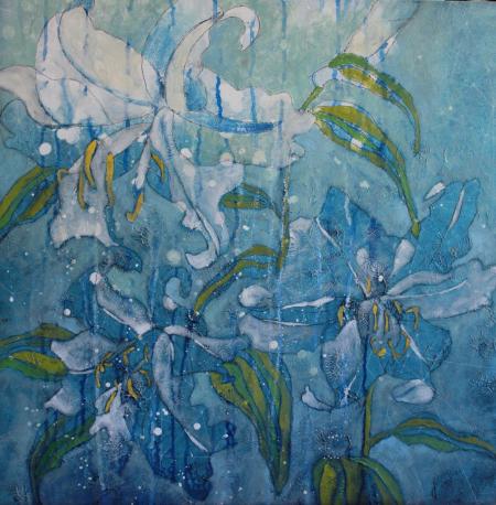 Lilies in Blue II