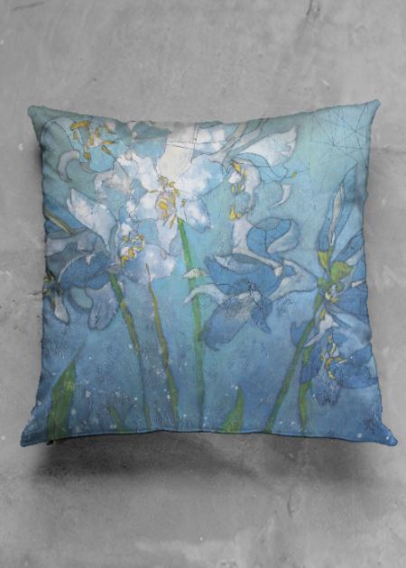 Lilies in blue VIDA pillow